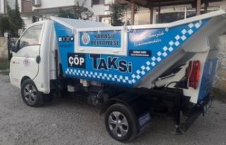 Karasu Belediyesi 'Çöp Taksi' Uygulamasına...