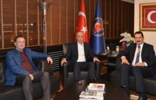 Ali İhsan Yavuz'dan Ergün Atalay'a ziyaret