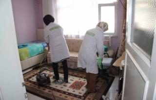 Hendek'te evler pırıl pırıl oluyor
