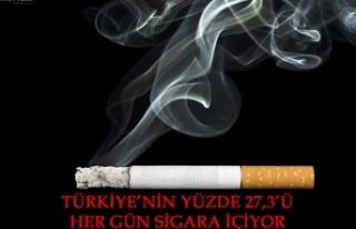 Türkiye'nin yüzde 27,3'ü her gün sigara içiyor