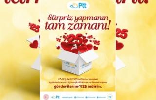Ptt'den Sevgililer Günü'ne özel indirim sürprizi