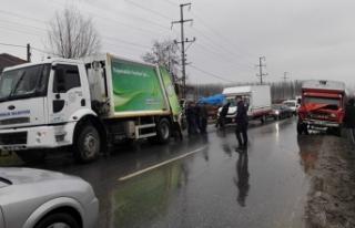 Zincirleme Trafik Kazası. Belediye Çalışanı Hayatını...