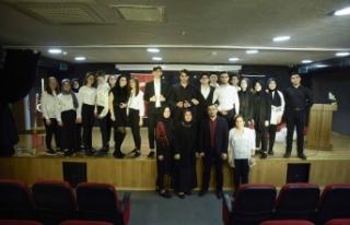Altınküre Lisesi'nde, İstiklal Marşının Kabulü...