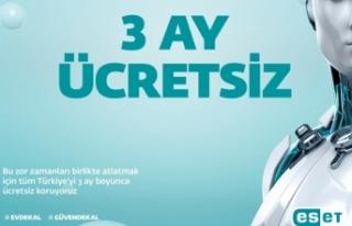 ESET'ten tüm Türkiye'ye3 aylık ücretsiz...