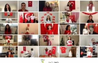 Öğrenciler 23 nisan'ın 100. yıl coşkusunu online...