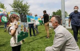 Adapazarı'nda Resim Şenliği İle Mutlu Çocuklar