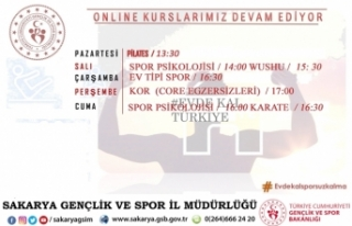 Gençlik ve Spor İl MüdürlüğüOnline Kurslar...