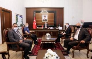 Polis Başmüfettişlerinden Vali Nayir'e Ziyaret