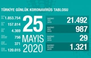 Türkiye'de son 24 saatte 29 kişi hayatını...