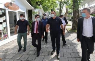 Vali Çetin Oktay Kaldırım Sapanca İlçesini Ziyaret...
