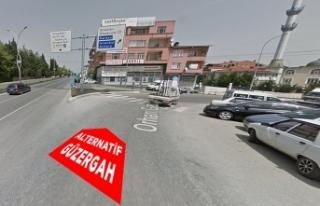 Köprülü kavşak için trafik alternatif güzergâhlardan...