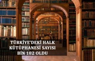 Türkiye'deki Halk Kütüphanesi sayısı bin 182...