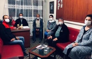 Chp il başkanı Ecevit Keleş Taraklı ilçe teşkilatını...