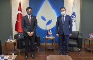 Japonya Büyükelçisi Miyajima, Babacan'ı ziyaret...