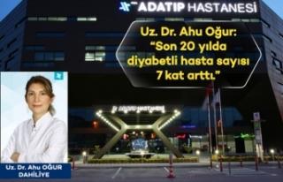 Uz.Dr.Ahu Oğur: Son 20 yılda diyabetli hasta sayısı...