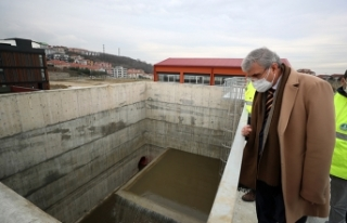 Akçay Barajı'ndan gelen suyun test aşamalarında...