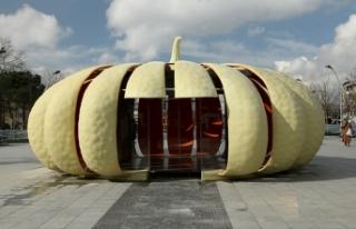 Kabak motifli satış ofisi Gar Meydanı'na kuruluyor