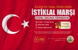 Sapanca Belediyesi'nden İstiklal Marşı Okuma...