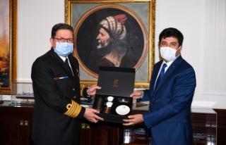 Sarıbıyık'tan Deniz Kuvvetleri Komutanı Özbal'a...