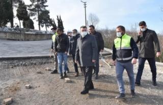 Karasu Kuzuluk Mahallesinde Beton Yol Uygulaması...