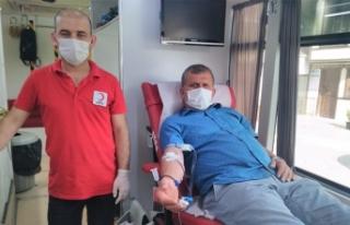 Kan bağışı etkinliğine taraklılardan yoğun...