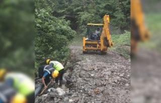 Büyükşehir Belediyesi afet bölgelerinde onarım...