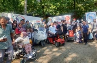 Sakarya'da engelliler İl Ormanı'nda düzenlenen...