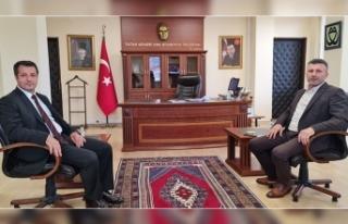 Başkan Özen'den, Kaymakam Canpolat'a Hayırlı...