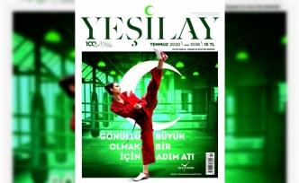 Yeşilay Dergisi'nin Temmuz sayısının kapağını Dünya Tekvando Şampiyonu İrem Yaman tasarladı