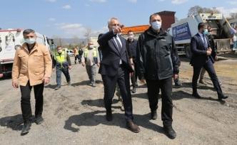Başkan babaoğlu vali kaldırım'a çalışmaları anlattı