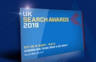 """Acıbadem """"Uk Search Awards""""Birincilik Ödülünü Aldı"""