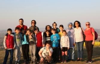 Maceracılar yamaç paraşütü için Kırantepe'deydi