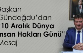 Başkan Gündoğdu'dan '10 aralık dünya insan hakları günü' mesajı