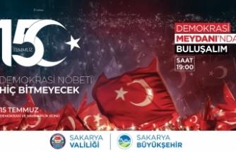 15 Temmuz etkinlikleri Demokrasi Meydanı'nda