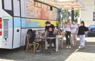EBA Mobil Destek Aracı Karasu'da Hizmet Veriyor