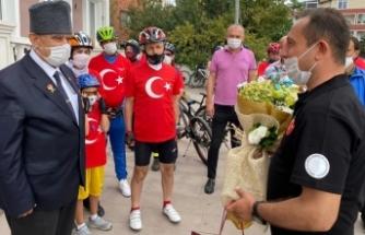 Hareketlilik haftasında pedallar Gaziler Derneği'ne çevrildi