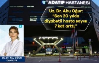 Uz.Dr.Ahu Oğur: Son 20 yılda diyabetli hasta sayısı 7 kat arttı