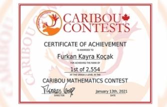 Caribou Matematik'te Tüm Soruları Doğru Cevapladı