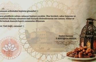 """Durmuş'tan Öğrencilere """"Hayırlı Ramazanlar"""""""
