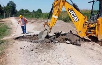 Büyükşehir SASKİ ekipleri Karakamış Mahallesini tamamlıyor