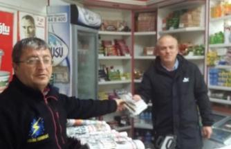 Taraklı'da gazete satışı başladı