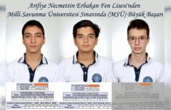 Millî Savunma Üniversitesi (MSÜ) Sonuçlarına Sakarya Damgası