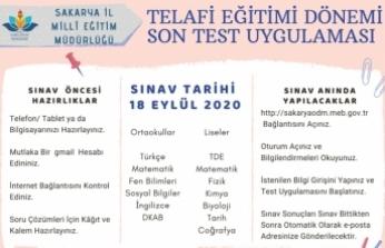 Sakarya MEM'den Telafi Eğitimi Son Test Uygulaması