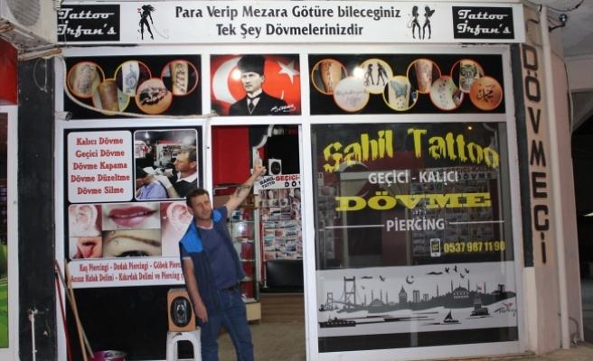 Karasu'da dövme İlgi görmeye devam ediyor