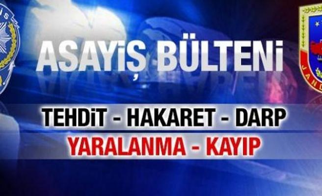 Sakarya için 19 Temmuz 2017 il Jandarma Asayiş Raporu