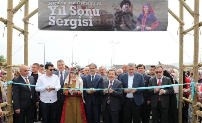 """Vali Balkanlıoğlu, """"Selçuklu'dan Osmanlı'ya"""" Konulu Yıl Sonu Sergisinin Açılışını Yaptı"""