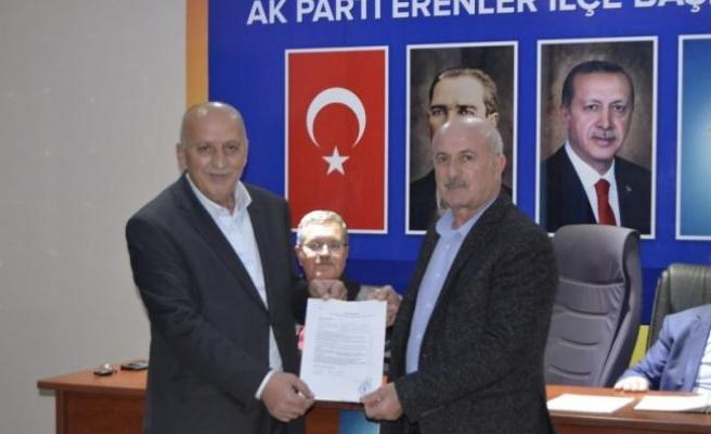 Ali Keskin Belediye meclis Üyeliği için Erenler'e başvurdu