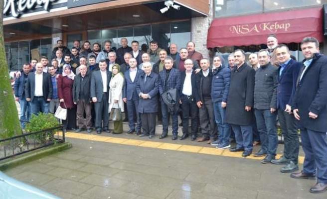 Ak Parti Belediye Başkan Adayı İshak Sarı İlçede Kurucu Başkanlarla Bir Araya Geldi