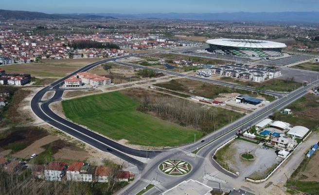 Stadyum bölgesine yeni duble yol