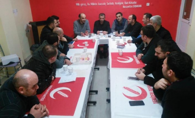 Yeniden Refah Partisi Sapanca İlçe Teşkilatında görev dağılımı gerçekleşti